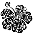 Hibiscus black and white vector image