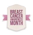Breast Cancer Awareness Month big Banner vector image