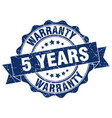 5 years warranty stamp sign seal vector image vector image