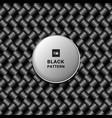 abstract 3d black metallic weave pattern on dark vector image vector image