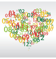 Abstract background with the numbers in the shape vector image