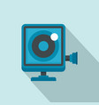 action camera icon flat style vector image