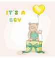 baby shower or arrival card - with bear