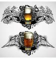 beer mugs decorative vector image vector image