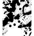 Black and white splatter background vector image vector image