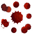 Blood Stains Big Set vector image vector image