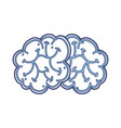 blue brain cartoon vector image vector image