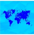 Blue World Map In Pixels vector image vector image