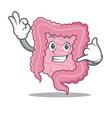 call me intestine mascot cartoon style vector image vector image