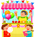 candy stall vector image