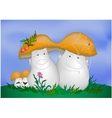 Cartoon mushrooms vector image vector image