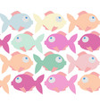 colorful fish cartoon seamless pattern vector image vector image