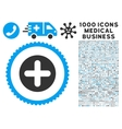 Create Icon with 1000 Medical Business Symbols vector image vector image