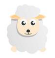 cute sheep mascot icon cartoon style vector image