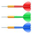 dart arrows vector image vector image