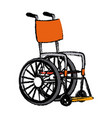disabled wheelchair handicap medical equipment vector image vector image