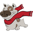 Dog with a red scarf Cartoon vector image