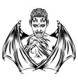 dracula boy with sharp wings bat vector image