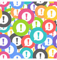 exclamation icon seamless pattern background vector image vector image