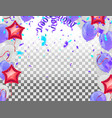 festive colorful party shiny banners with air vector image