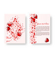festive template with st valentines day vector image vector image