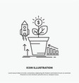 finance financial growth money profit icon line vector image