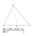 finding the median of the triangle vector image vector image