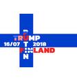 flag of finlandtrump meets putin in finland vector image