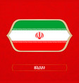 flag of iran is made in football style vector image vector image