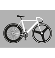 Flat fixed gear bicycle vector image