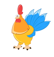 gold chicken vector image