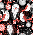 graphic pattern owl vector image vector image