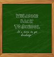 green blackboard greeting card welcome back vector image