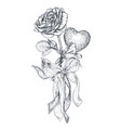 hand drawn vintage vector image