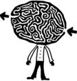 headmaze bw vector image vector image