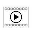 high definition movie symbol in black and white vector image vector image