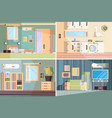 living room banners indoor composition vector image vector image