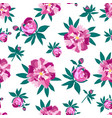peonies seamless pattern for printing on fabric vector image vector image