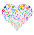 pharmacy tablet fireworks heart vector image vector image