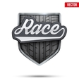 Premium symbol of Race label vector image vector image