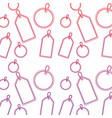 price or gift tag pattern image vector image