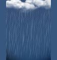 rain realistic weather season autumn rainy clouds vector image vector image