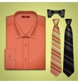 red shirt with a tie vector image