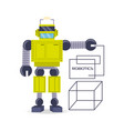 robot cartoon design vector image