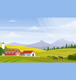 rural landscape beautiful vector image vector image