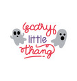 scary little thang halloween ghosts vector image
