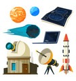 science astronomy pictures set various vector image vector image