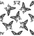 seamless pattern with black and white madagascan vector image vector image
