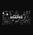 set neo memphis geometric shapes vector image vector image