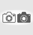 set of camera icons vector image vector image